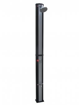 myPool Solardusche Exklusiv schwarz / silber 35 Liter Bild 1