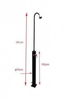 myPool Solardusche Standard Kunststoff schwarz 10 Liter Bild 2