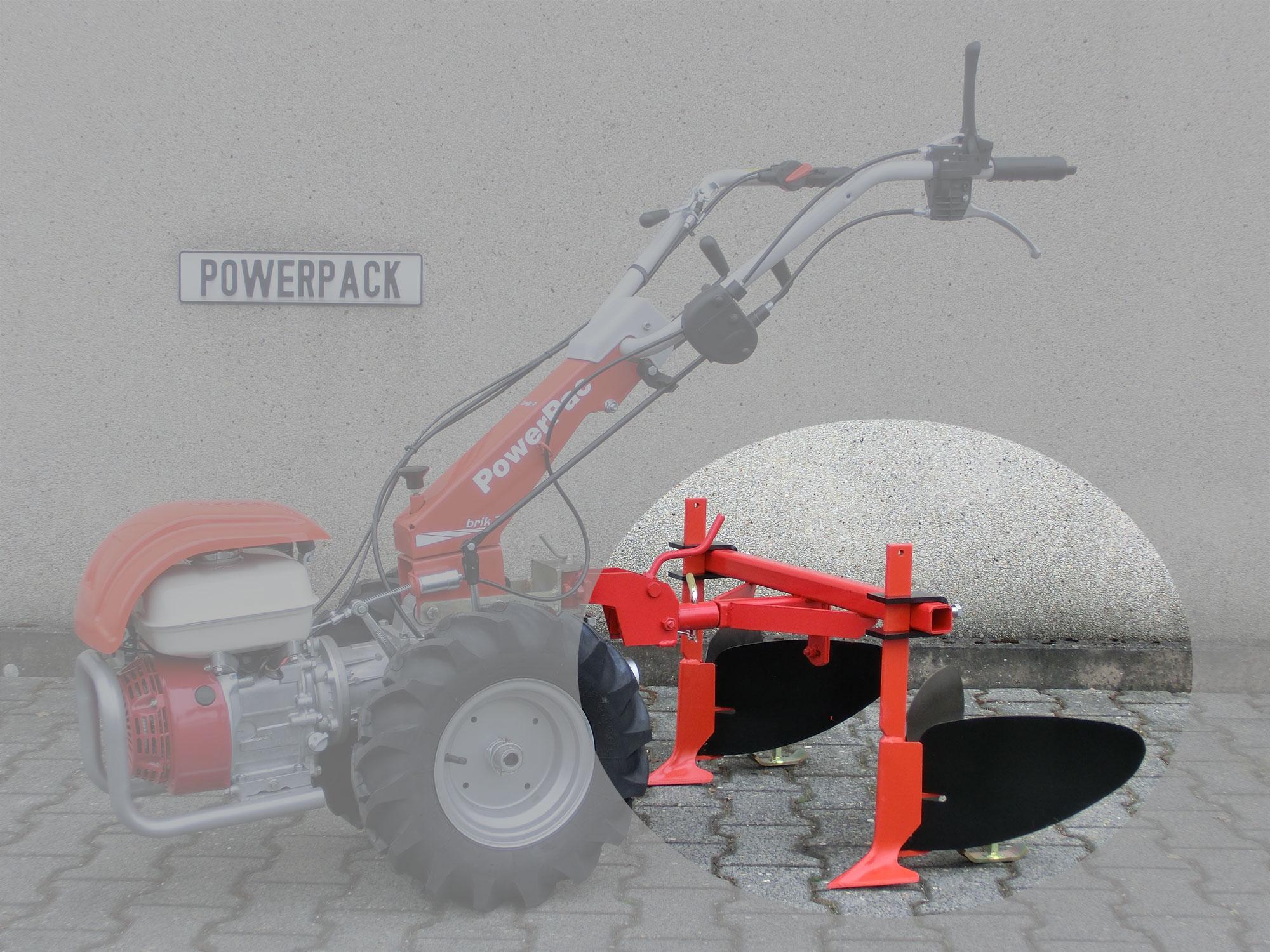 Powerpac Häufelpflug  für Einachser Basismodul KAM5 70cm Bild 1