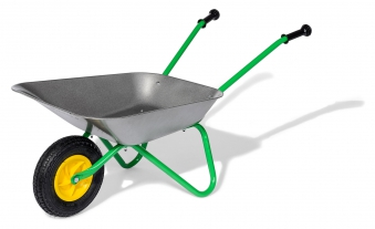 Metallschubkarre / Schubkarre Air Tyre grün / metall - Rolly Toys Bild 1