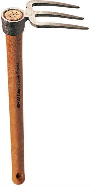 Rex-Häckchen m. 3 Zinken mit Stiel 40 cm lang Bild 1