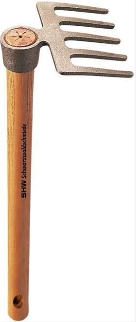 Rex-Kleinrechen m.5 Zinkeu. Stiel 40 cm lang Bild 1