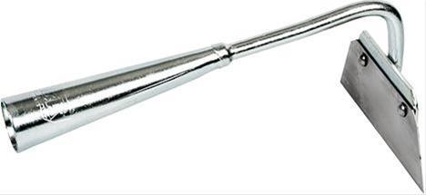 Rundhacke 130 mm verz.,o.Stiel,Stahlmesserrostfrei Bild 1