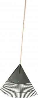 Fächerbesen / Laubbesen / Rasenbesen  mit Stiel Bild 1