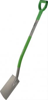 Gärtnerspaten flache FormStahlstiel Ergoline, grün Bild 1