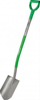 Gärtnerspaten spitze FormStahlstiel Ergoline, grün Bild 1
