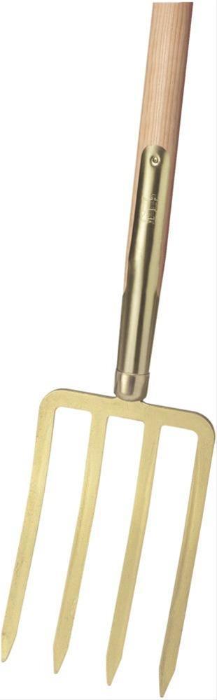 Spatengabel m. Stiel gold m. 4 Bajonettzinken Bild 1