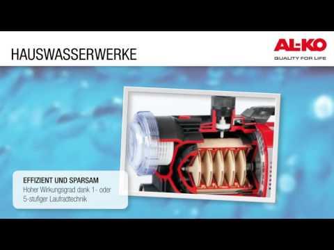 AL-KO Hauswasserwerk HW 5000 FMS Premium 1,3 kW 4500 l/h Video Screenshot 1151