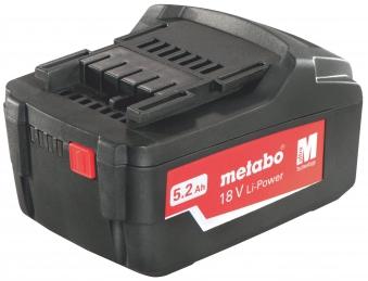 Metabo Ersatzakku / Akkupack 18V, 5,2Ah Li-Power Air-Cooled