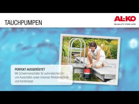 AL-KO Schmutzwasser Tauchpumpe DRAIN 7000 Classic 350W 7000 l/h Video Screenshot 1169