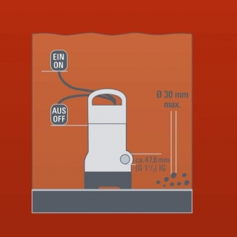 Einhell Schmutzwasserpumpe GH-DP 3730 370 Watt Bild 3