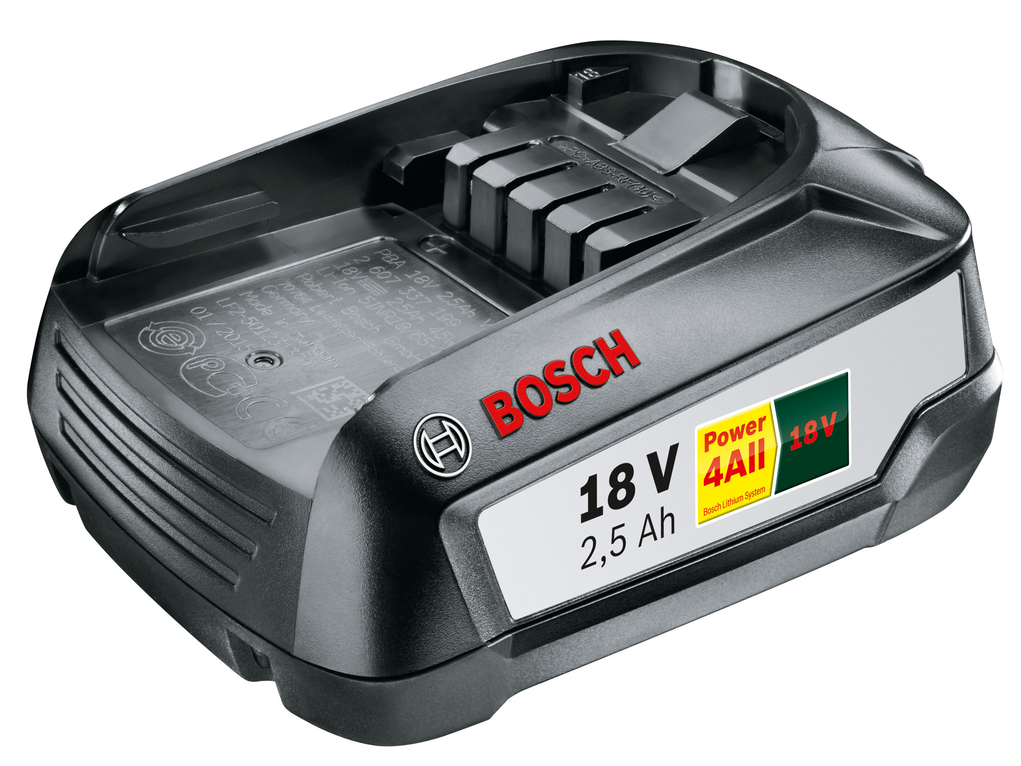 bosch 18 v 2 5 ah lithium ionen akku f r bosch 18 volt gartenger te bei. Black Bedroom Furniture Sets. Home Design Ideas