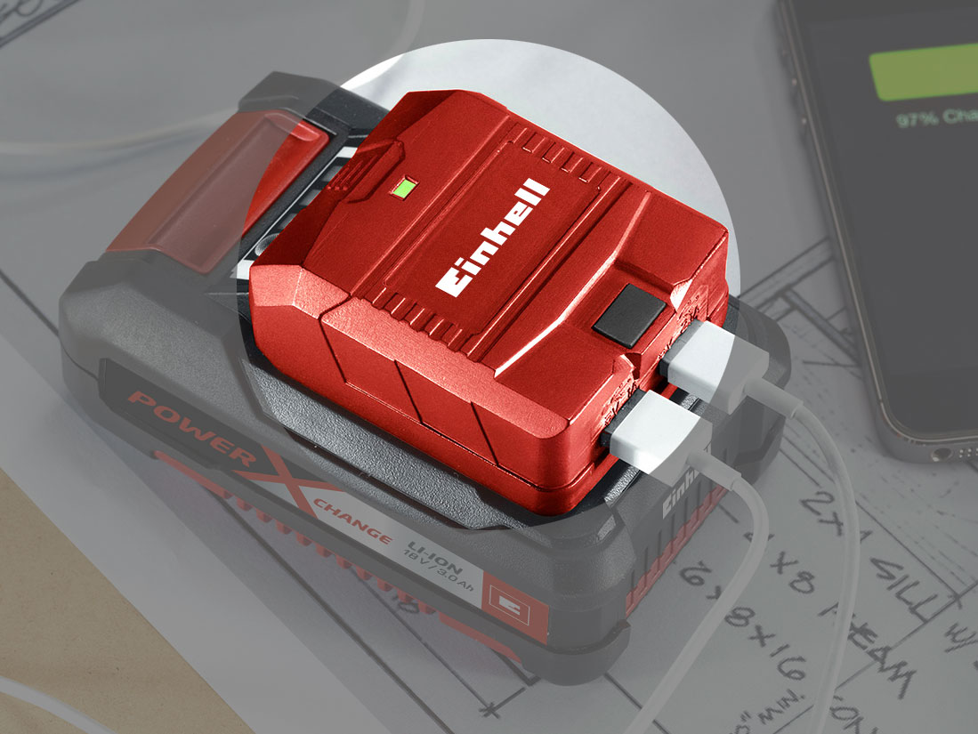 Einhell USB-Akku-Adapter TE-CP 18 Li USB-Solo 18 V ohne Akku Bild 2