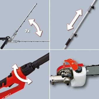 Einhell Elektro-Stab-Heckenschere / Kettensäge GC-HC 9024 T SL 48cm Bild 2