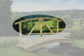 Handlauf (kdi) für Teichbrücke Länge 250cm Bild 1