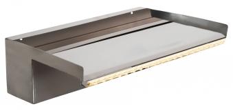 Heissner Überlaufkante mit LED / Wasserfall Element Edelstahl 30cm Bild 1