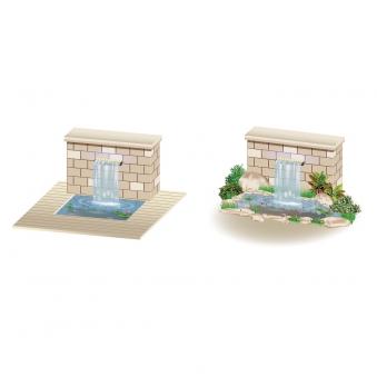 Heissner Überlaufkante mit LED / Wasserfall Element Edelstahl 30cm Bild 3