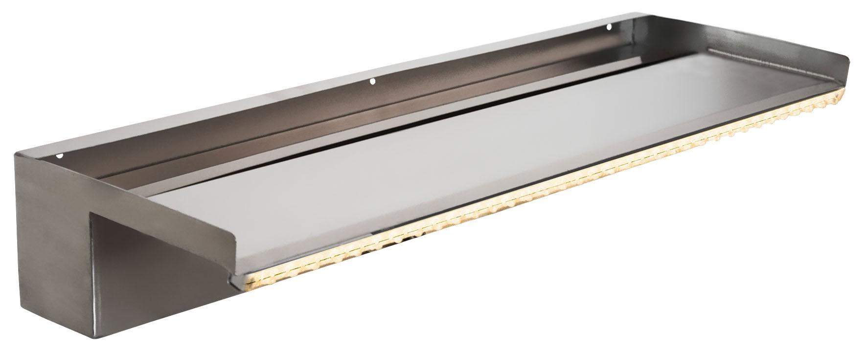 Heissner Überlaufkante mit LED / Wasserfall Element Edelstahl 60cm Bild 1