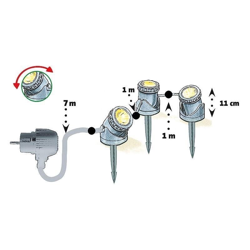 Heissner Gartenbeleuchtung Teichbeleuchtung LED 3-Set U403-T Bild 2