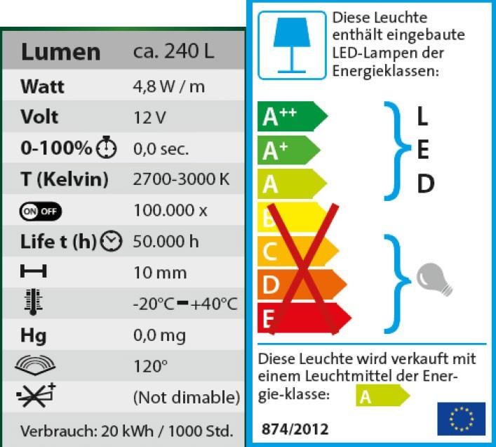 Heissner Unterwasser LED-Band Starter-Set mit Trafo warm-weiß 5m Bild 3