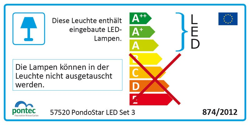 Teich beleuchtung led spot set pontec pondostar led set for Gartenteich shops