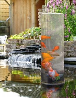 Ubbink Fishtower 50 Teichdekoration Fischsäule Acryl Ø20x50cm Bild 2