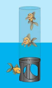 Ubbink Fishtower 66 Teichdekoration Fischsäule Acryl Ø20x66cm Bild 3
