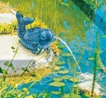 Wasserspeier bronze / Heissner Teichfigur Fisch Bild 1