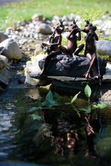 Wasserspeier bronze / Heissner Teichfigur Frosch-Kapelle Bild 1