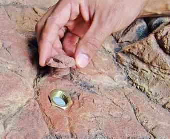 Heissner Bachlaufschale sandfarben 62x43x7cm Bild 3