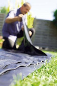 Heissner PVC Teichfolie 0,5mm schwarz 4x4m Bild 2
