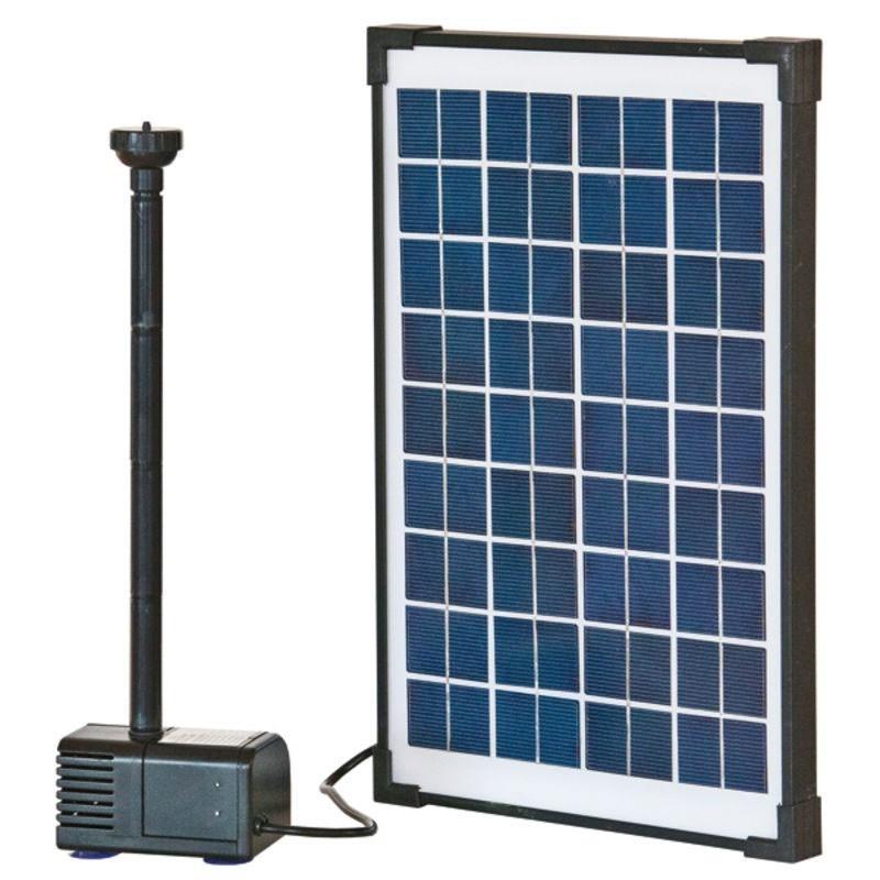 teichpumpe heissner solar pumpen set 610 l h bei. Black Bedroom Furniture Sets. Home Design Ideas