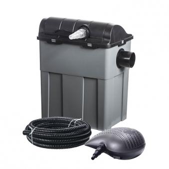 Teichfilter / Durchlauffilter-Set 10m³ 3300 L/h Heissner FPU10100-00 Bild 1