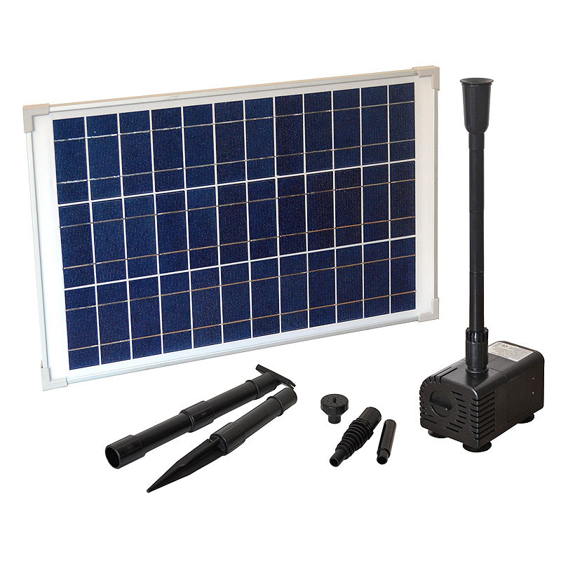teichpumpe heissner solar pumpen set 1000 l h sp1000 00 bei. Black Bedroom Furniture Sets. Home Design Ideas