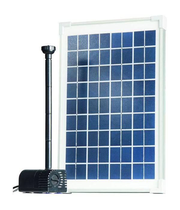 teichpumpe heissner solar pumpen set 300 l h sp300 00 bei. Black Bedroom Furniture Sets. Home Design Ideas