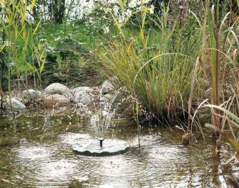 Teichpumpe / Wasserspielpumpe Solar PondoSolar Lily Island schwimmend Bild 3