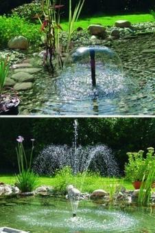 Unterwasser Filter-Set mit Wasserspiel Pumpe Pontec PonDuett 3000 Bild 2