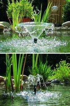 Unterwasser Filter-Set mit Wasserspiel Pumpe Pontec PonDuett 3000 Bild 3