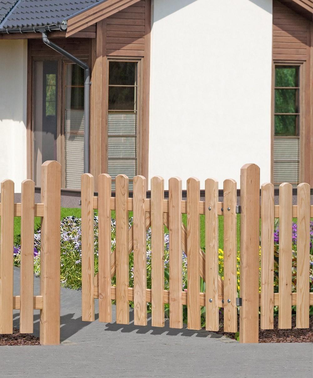Einzeltor Pforte für Vorgartenzaun Lärche 25x70 Türelement