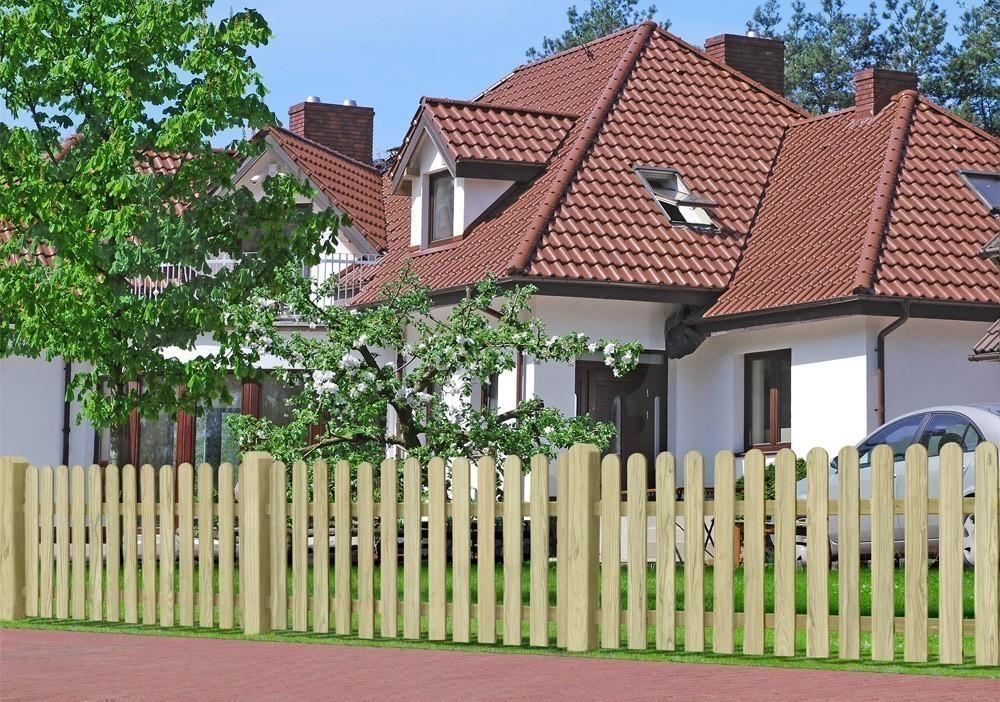 Garten Zaun / Holzzaun Bielefeld gerade kdi 180 x 100 cm Bild 2