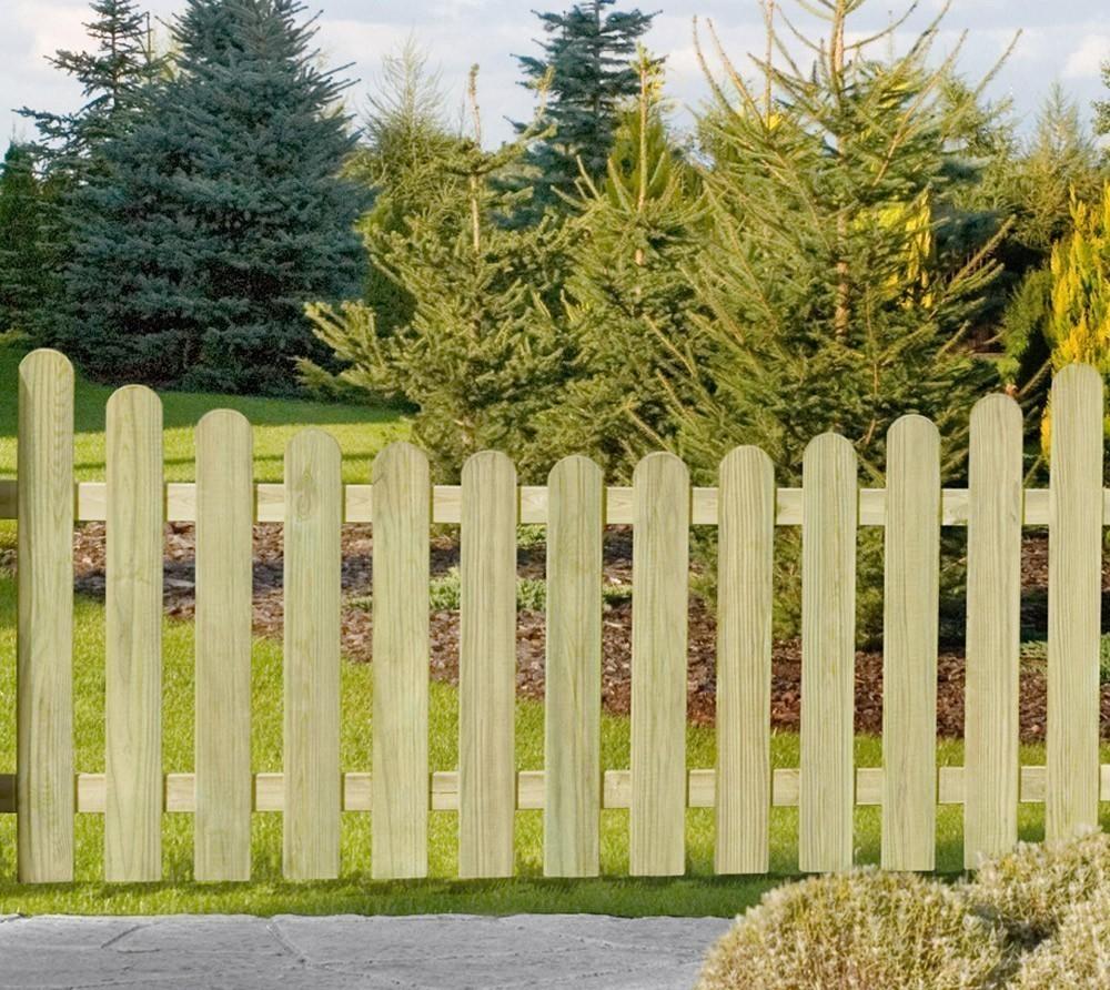 Garten Zaun / Holzzaun Bielefeld mit Unterbogen kdi 180 x 100/85 cm Bild 1