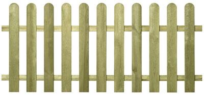 Garten Zaun Sylt / Holz Zaun kdi 180 x 70 cm Bild 2