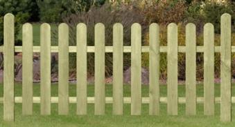 Garten Zaun Sylt / Holz Zaun kdi 180 x 70 cm Bild 1