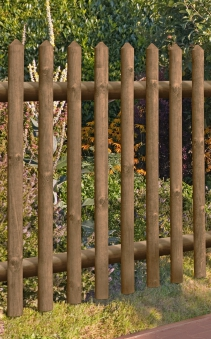 Gartentür / Pforte für Holz Senkrechtzaun 55 kdi braun 100x100cm Bild 1