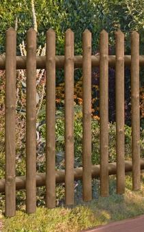 Gartentür / Pforte für Holz Senkrechtzaun 55 kdi braun 100x120cm Bild 1