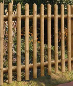 Gartenzaun / Holz Zaun Senkrechtzaun 55 kdi braun 250x80cm Bild 1