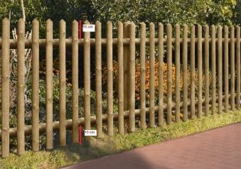 Gartenzaun / Holz Zaun Senkrechtzaun 55 kdi braun 250x80cm Bild 2