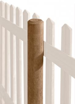 Zaunpfosten / Holzpfosten rund kdi braun Ø8cm Länge 125cm