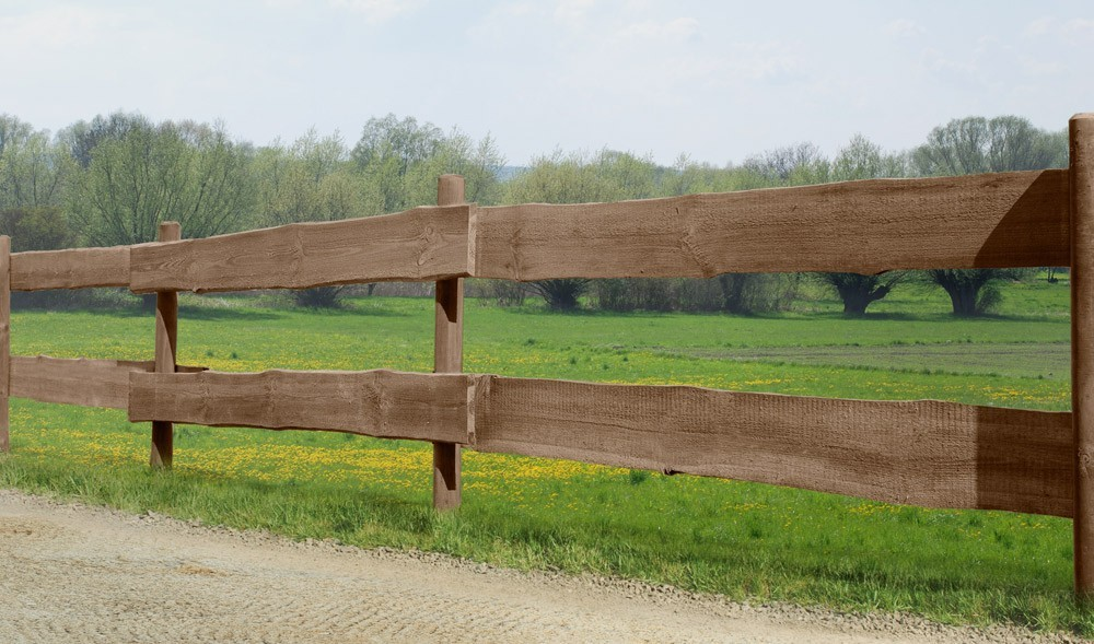 Zaunbohle / Rancherzaunbohle Kiefer kdi braun Länge 240cm Bild 2