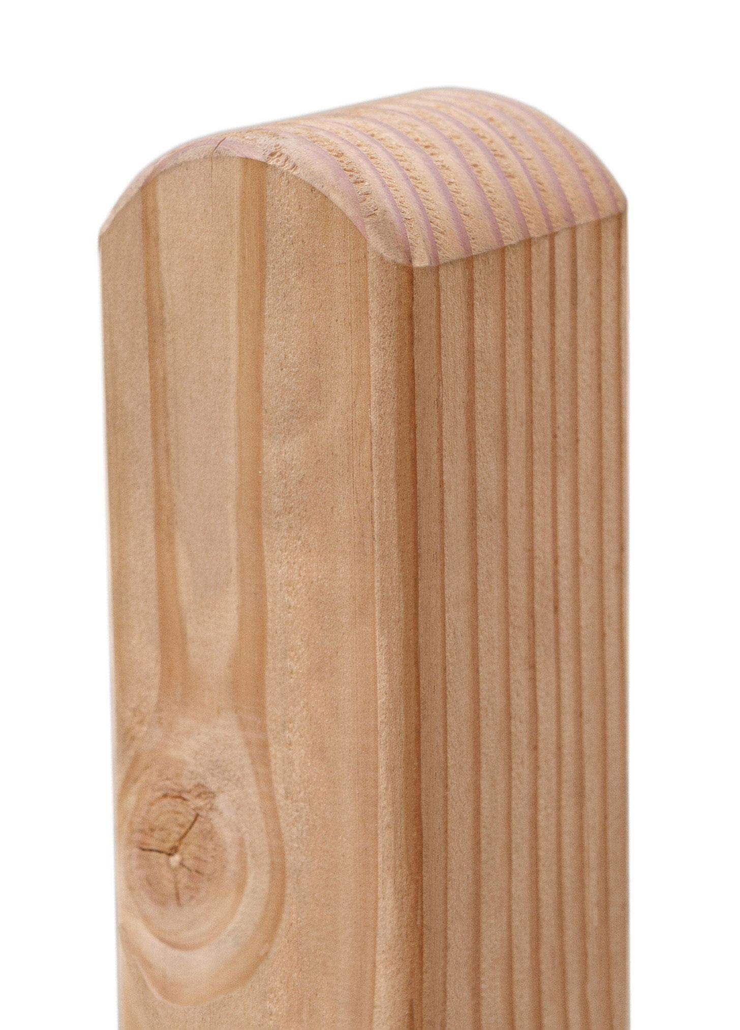 Zaunpfosten / Holzpfosten Rundkopf Lärche natur 9x9cm Länge 95cm Bild 1